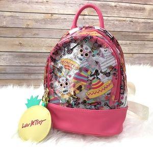 Betsey Johnson Sugar Skulls Pink Backpack Purse
